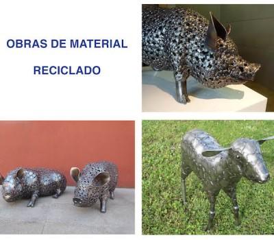 Obras de material reciclado